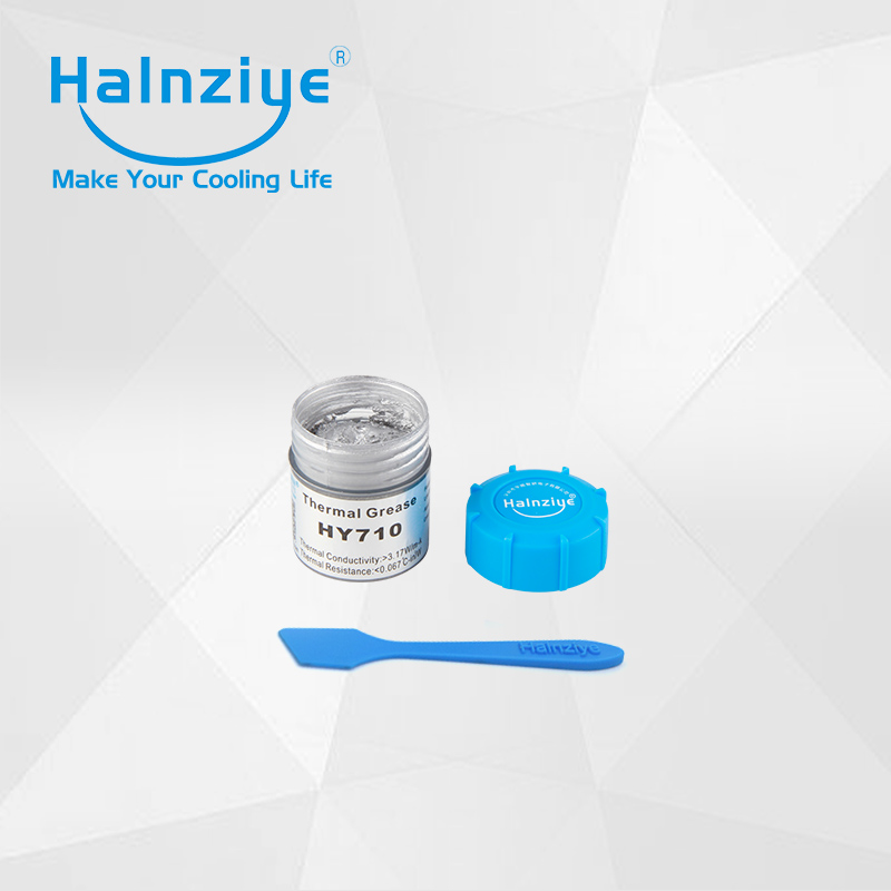 hot selling silver thermal paste/compound/grease HY710 tub/can/jar 10g 20pcs with free shipping cost