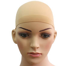2PC SOFT Bald WIG CAP BREATHABLE SNOOD STOCKING NYLON STRETCH HAIR LINER UNISEX(China)