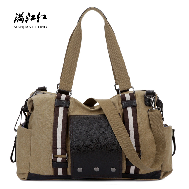 Fashion Canvas Men Travel Duffle Bags Large Casual Shoulder Travel Bag For Women Patchwork Leather Luggage Tote Travel Bags 1270 squirrel fashion large canvas patchwork vogue vintage zipper pattern brand versatile crossbody women travel tote shoulder bags