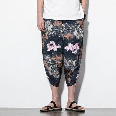 Полосатые спортивные штаны с трафаретным принтом, уличные мужские спортивные штаны с эластичной талией, спортивные штаны для бега - Цвет: color14