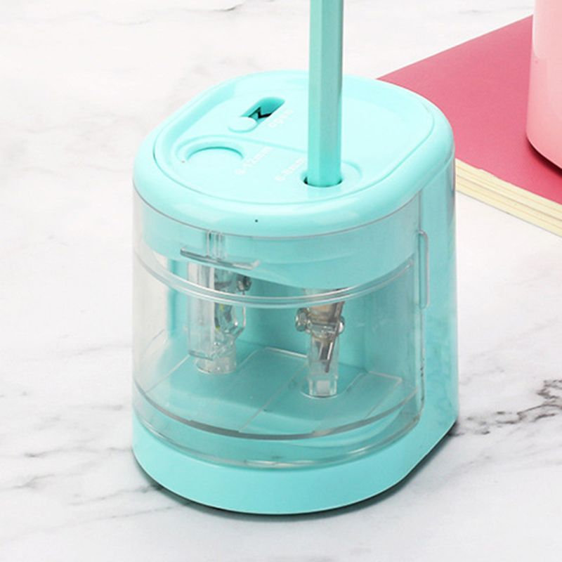 New Creative Automatic Smart Double Hole Electric Pencil Sharpener School Office Stationery Stationery Student Gift in Pencil Sharpeners from Office School Supplies