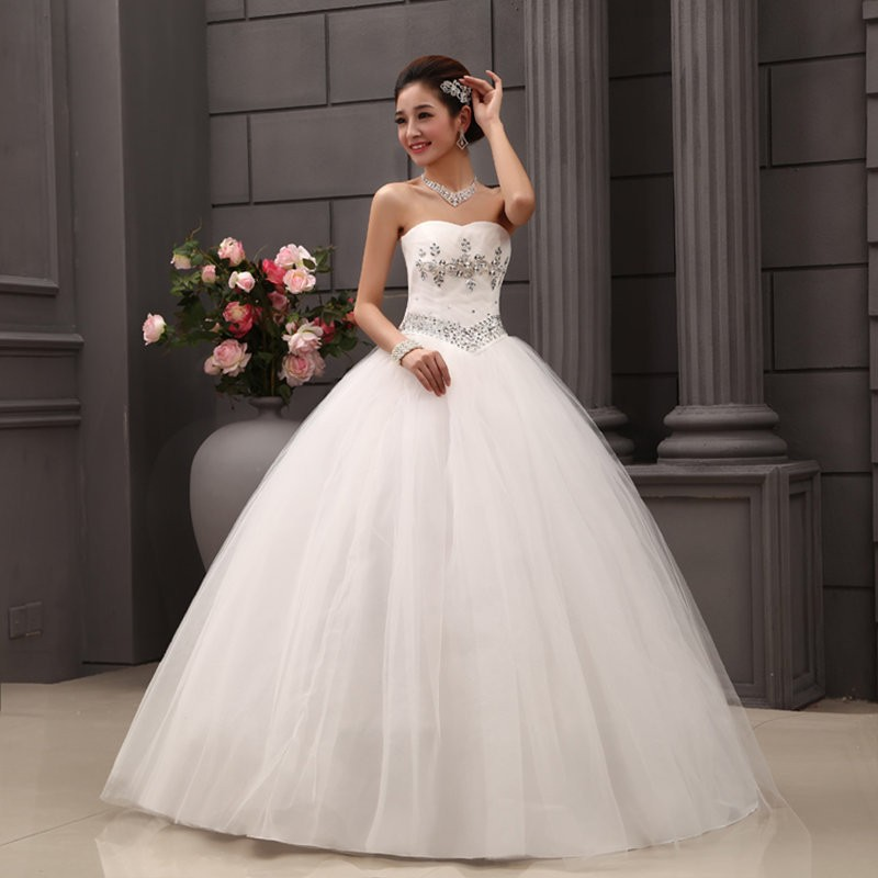 Cheap Wedding Dresses Size 6: HOT Sale 2016 White Princess Wedding Dress Plus Size
