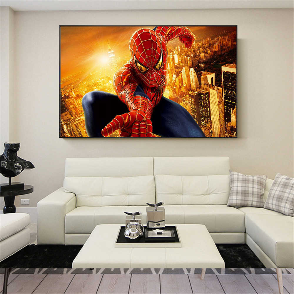 The Spiders Man movie poster Super hero Spiderman Painting for living room wall Decor posters wall art canvas Cuadros