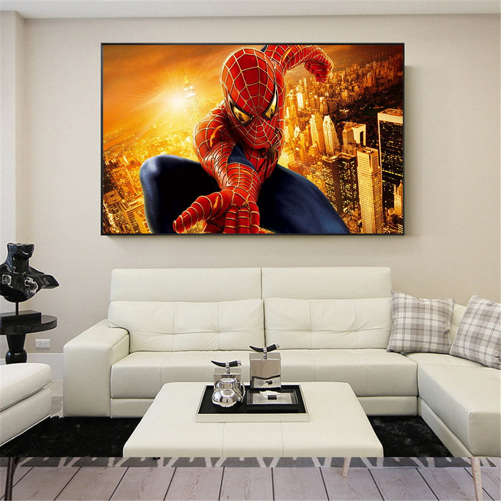 The Spiders Man movie poster Super hero Spiderman Painting ...