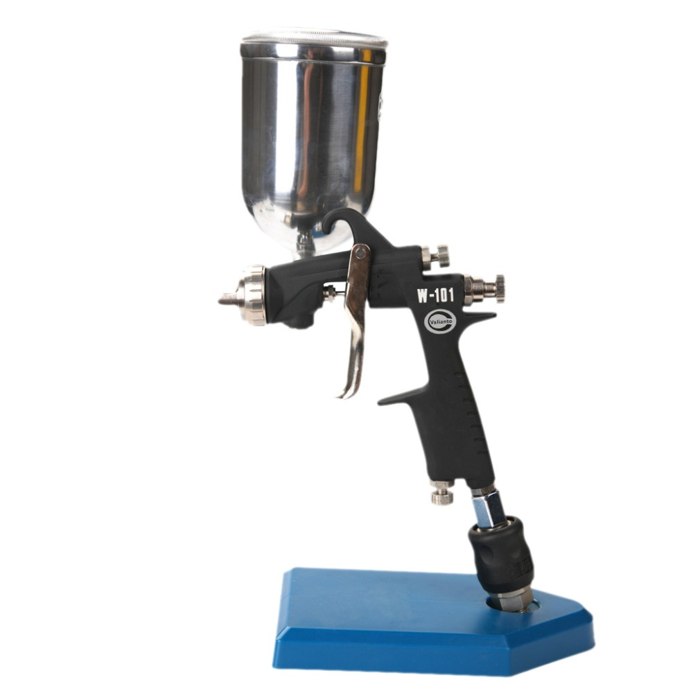 цена на W-101-G Dual Paint Channels Gravity Feed Air Spray Gun Air Brush Sprayer For Painting Car Aerograph