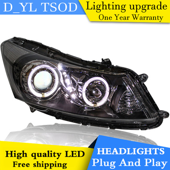 Car Styling Headlights for Honda Accord 08-13 LED Headlight for Accord Head Lamp LED Daytime Running Light LED DRL Bi-Xenon HID