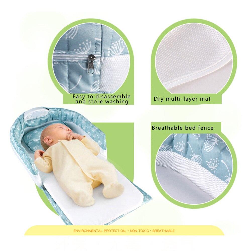 Lit de nid de bébé lit de bébé Portable lit séparé avec musique légère lit de voyage lit de voyage pour enfants infantile enfants - 6