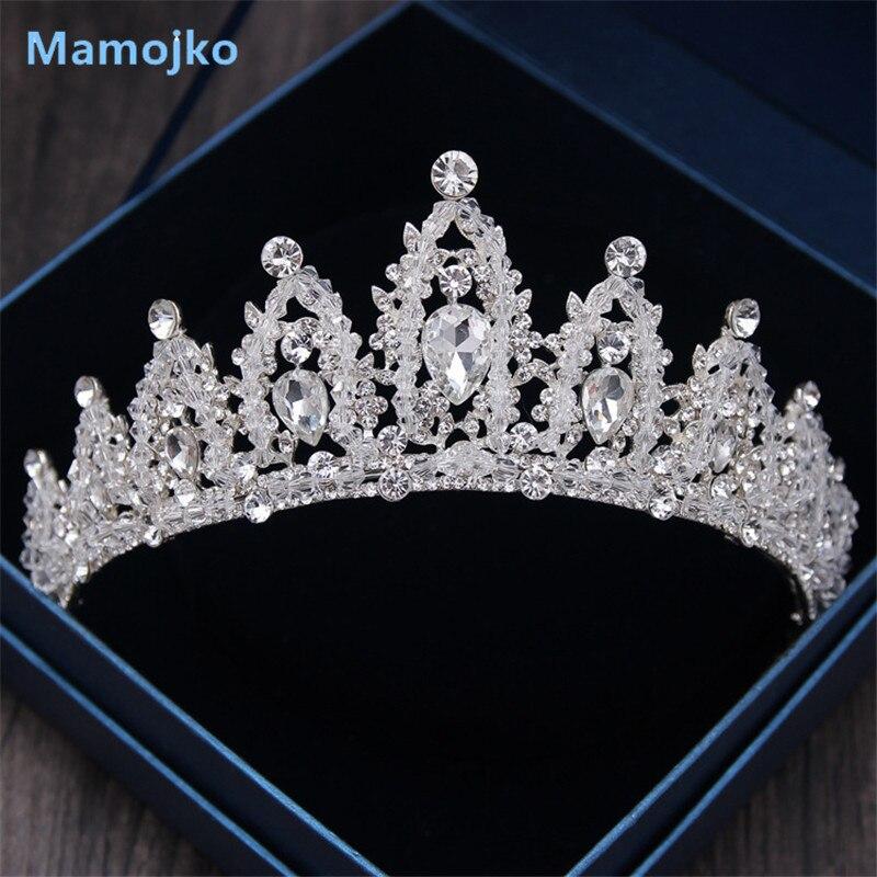 Mamojko Wedding Jewelry Baroque Crystal Queen Crown Bridal Tiara Hair Accessories Band Crown Headband For Woman 2017 New Sale
