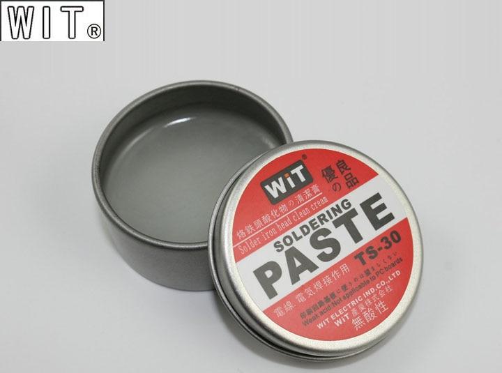 Japan WIT TS-30 Soldering Tip Resurrection Paste Regeneration Abrasive Acid-free Refresher Solder Iron Head Clean Cream
