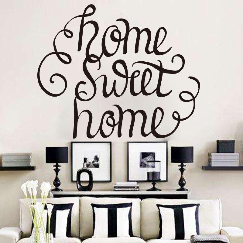 Muursticker Home Sweet Home.Us 7 73 10 Off Home Sweet Home Quote Muursticker Home Diy Home Decor Woonkamer Slaapkamer Muurtattoo Gemakkelijk Verwijderbare Muurschildering In