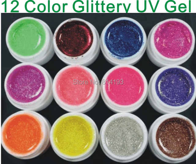 Discount  Promotions BEMLP 12 Color Glitter Extension Gel Builder Gel Nail Polish UV Nail Gel Polish