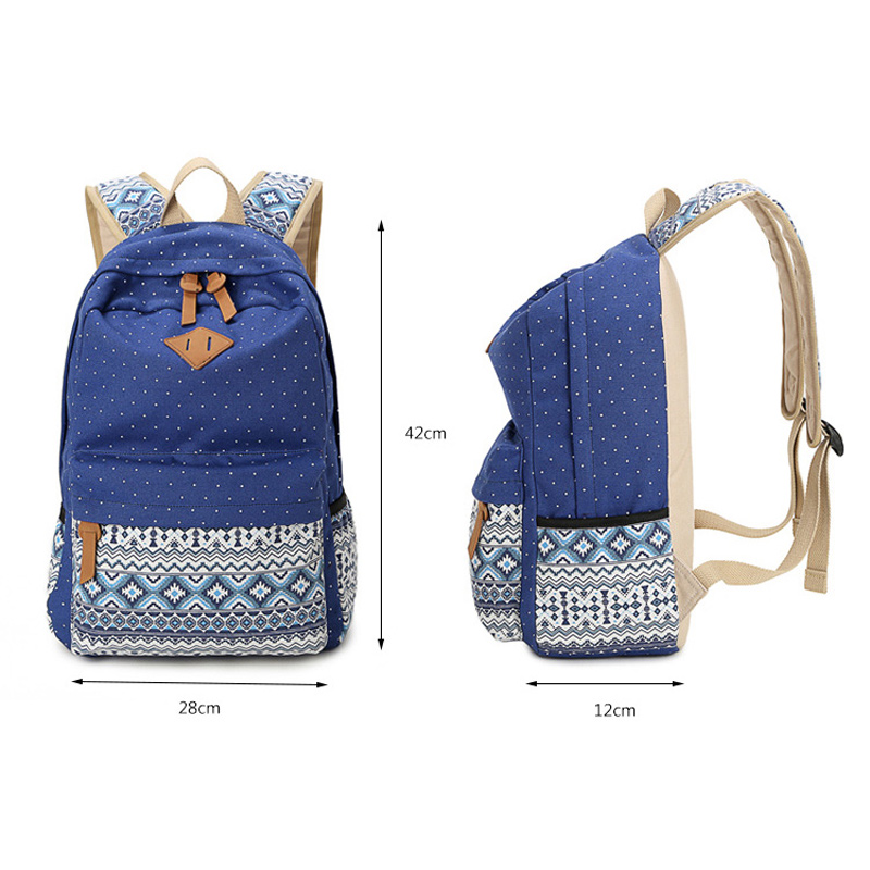 158829f29aa4 Sunborls Travel School Student Backpacks Vintage Canvas Printing Backpack  Women Female Teenage Girls Rucksack Laptop Bagpack Bag-in Backpacks from  Luggage ...