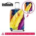 Красочные Перо Печати Упругой Водонепроницаемая Камера Защитная Крышка Для 18-30 дюймов Art Style Travel Suitcase Travel Камера Крышка