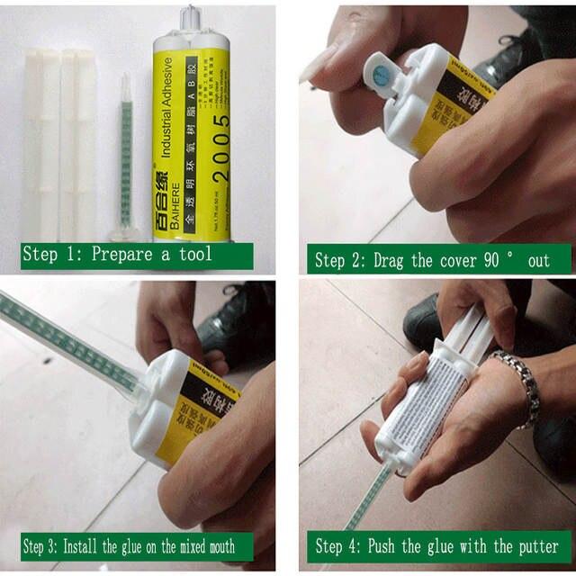 high viscous 5 seconds quick to dry metal machine glass fiber ceramic hard  plastic epoxy resin adhesive super AB glue