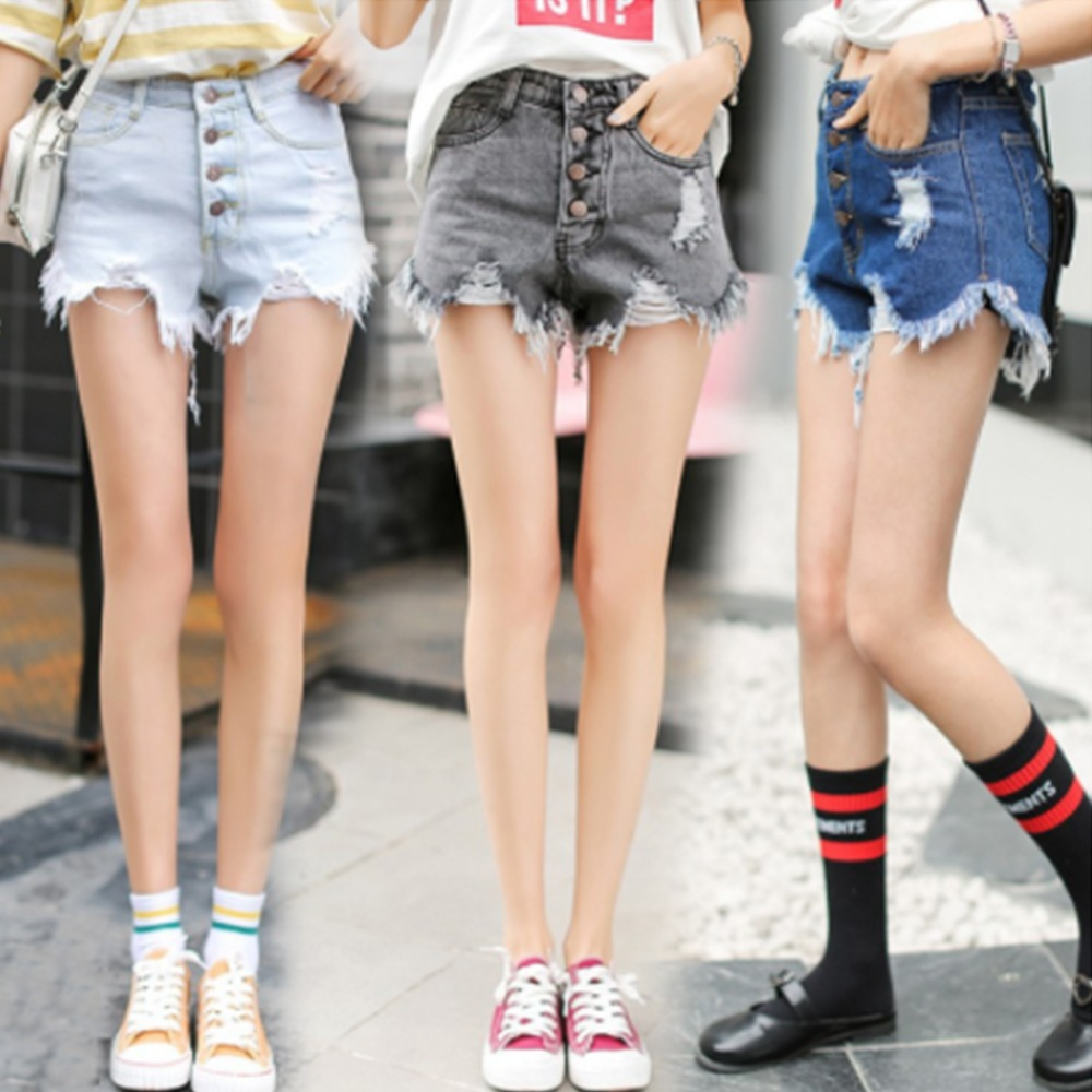 Fashion Casual Summer Hot Dale Denim Women Shorts High Waists Fur-lined Leg-openings Plus Sizesexy Short Jeans Bottoms