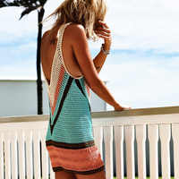 2018 New Beach Cover-Up Bikini Crochet Knit Swimwear Summer Beach Clothing Hollow Swimsuit Cover Up Beach Wear Clothes