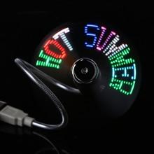 DIY Gadget Mini USB Fan Flexible Programmable 4 LED Cooler Cooling Fan Programming USB Fan LED Light