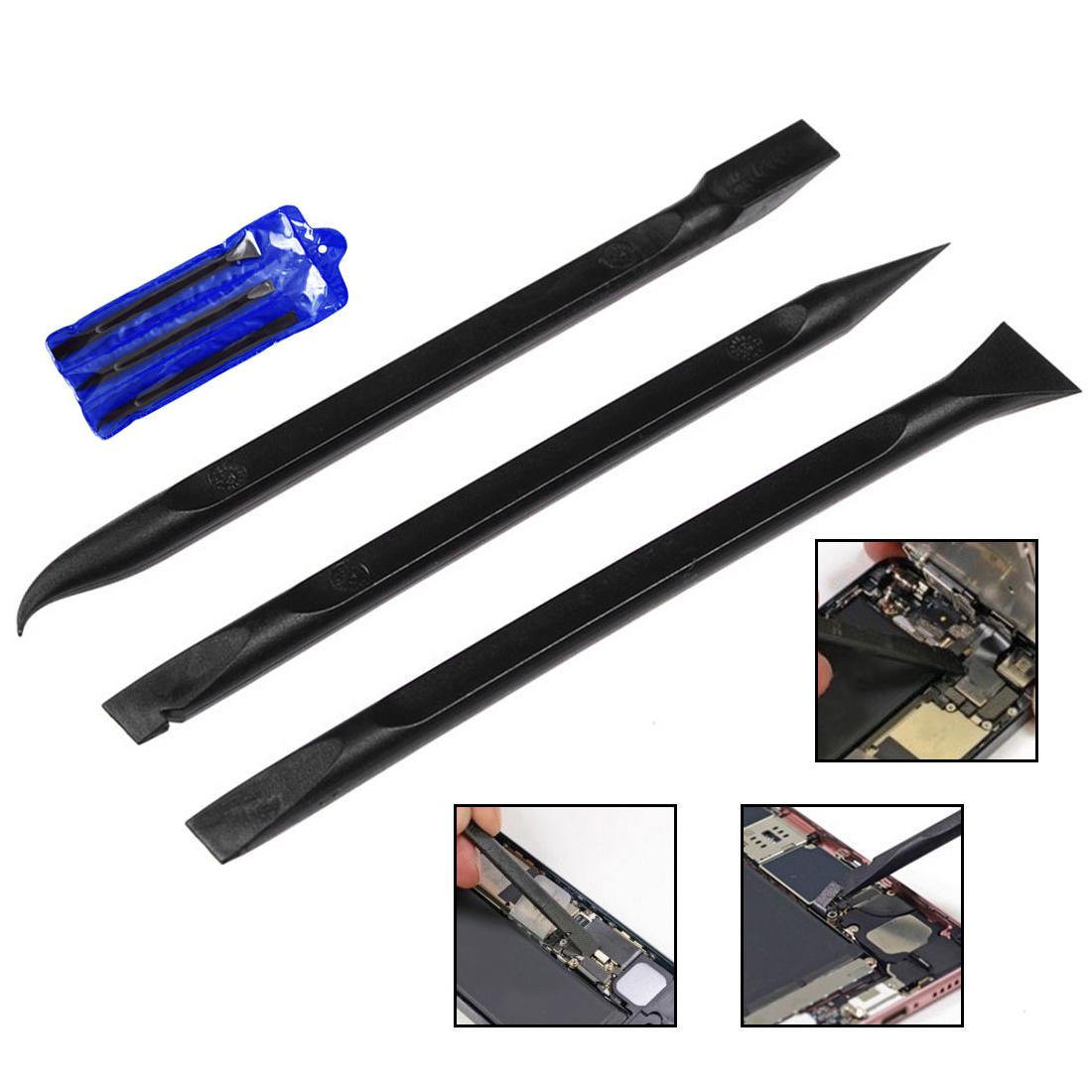 Black 6 In 1Durable Anti-static Spudger ESD Safe Heavy Duty Plastic Spudger Mobile Phone Opening Repair Tool