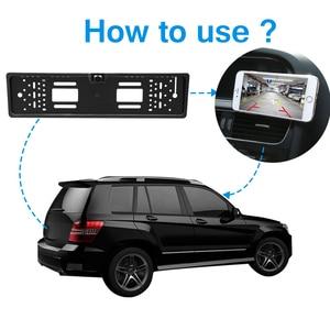 Image 3 - Автомобильный видеорегистратор с HD камерой, рамка для номерного знака ЕС, Wi Fi, дублирующая для парковки заднего вида, камера заднего вида, автомобильная камера безопасности с ночным видением