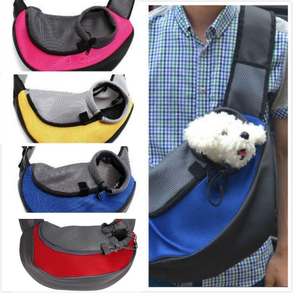 Pet Carrier Cat Puppy Small Animal Dog Carrier Sling Front Mesh Travel Tote Shoulder Bag Backpack S/L