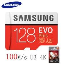 Samsung Micro SD карты 128 ГБ 64 ГБ 32 ГБ 256 ГБ 100 МБ/с. MicroSD карта флэш-памяти TF карты для телефона с мини Class10 U3 SDHC SDXC