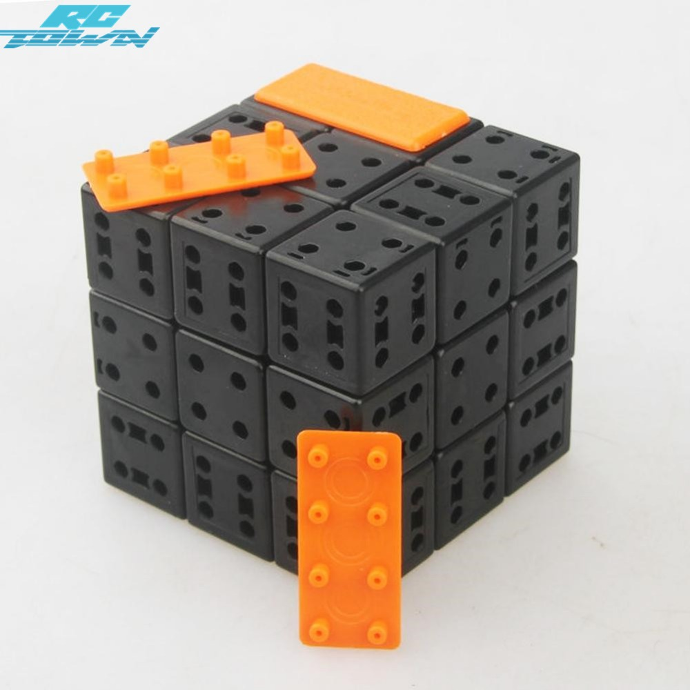 RCtown 3rd order DIY Bandaged Cube Black Magic Cube with Plastic Color Stickers Brain Teaser Puzzle for Magic Cube zk40 diy 3x3x3 brain teaser magic iq cube complete kit black