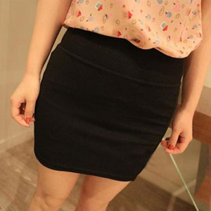 Image 1 - Fashion Women Ladies Sexy Summer Package Hip Pencil Skirt Seamless Elastic Pleated High Waist Slim Mini Skirts For Office Party