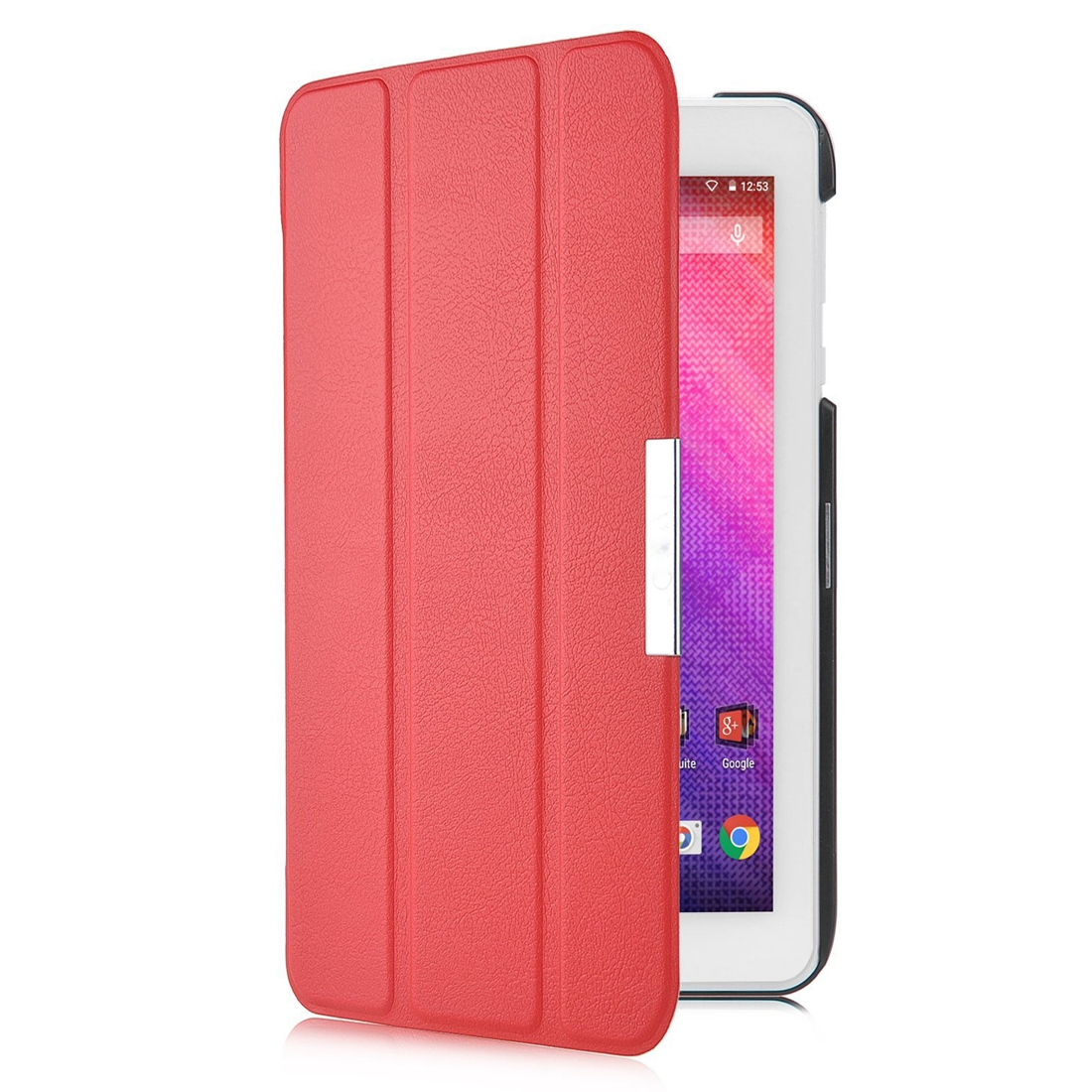 Slim Smart Cover Case for Acer Iconia One B1-770 7-Inch Tablet(Red)