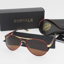 EURYALE BRAND DESIGN Classic Polarized Sunglasses Men Women Driving Square Frame Sun Glasses Male Goggle UV400 Oculos De Sol