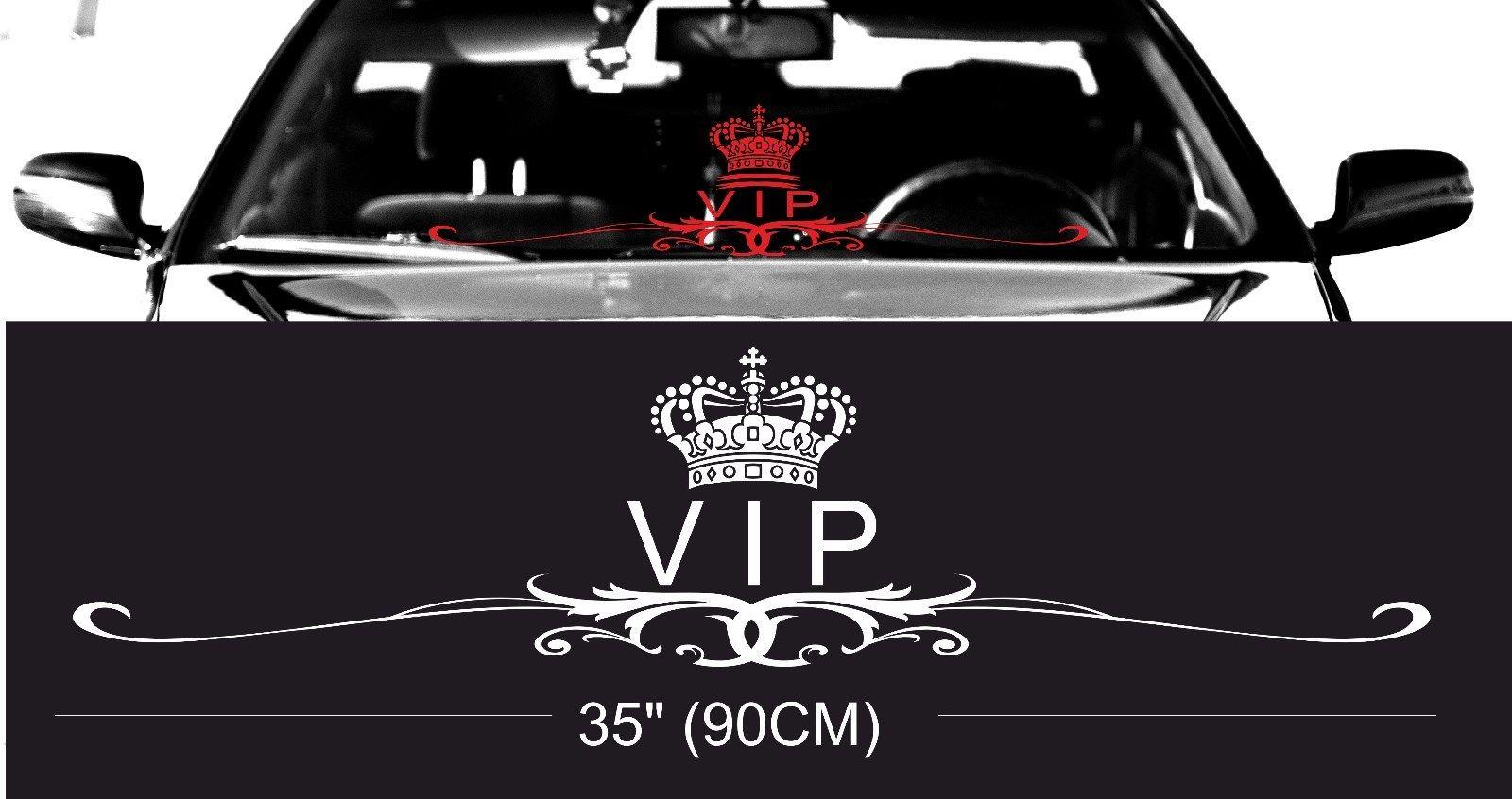 Royal vip classy windshield windscreen front glass car jdm decal sticker