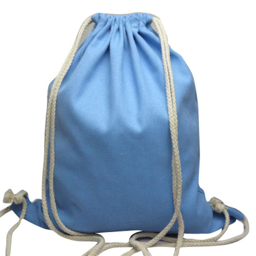 8646f6ce9e Naivety Solid Drawstring Bag Fabric Fashion Unisex Canvas Backpack Portable  15S70120 drop shipping-in Backpacks from Luggage   Bags on Aliexpress.com  ...