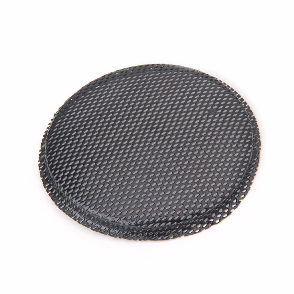 "3/"" inch Black Audio Speaker Cover Decorative Circle Metal Mesh Grille 2 Pcs"