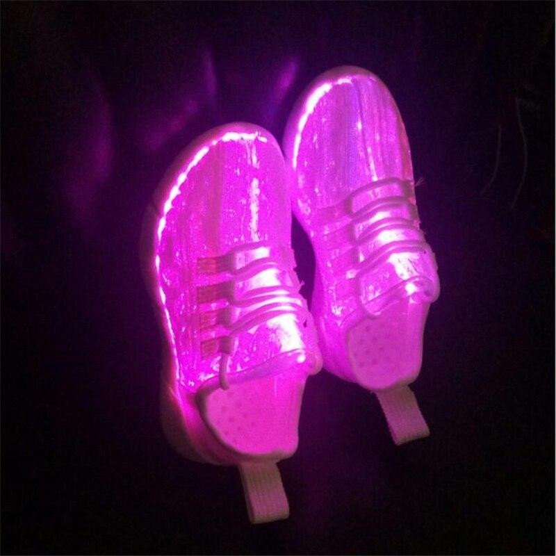 Femmes Chaussures Éclatante Shuffle Optique Lumière Sportive Scarpe Usb Fiber D'été Recharge Blanc Led Nouveau Melbourne Up Pour Adultes Fzwgnd7q5q