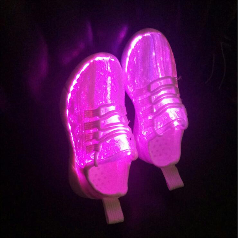 Melbourne Shuffle Shoes For Adult New Summer Led Fiber Optic Shoes Women USB Recharge Glowing Shoes Light Up Scarpe Sportive pvris melbourne