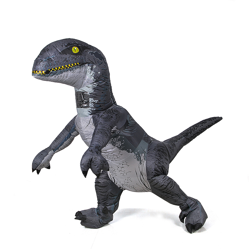 Jurassic World Adult Velociraptor Costume Inflatable T REX Raptor Costume Cosplay Dinosaur Party Halloween Costume for Women Men