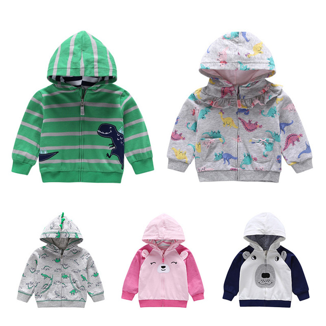 71af47f52 Baby Boys Girls Sweatshirts Knit Cotton Hooded Baseball Cardigan Coat Autumn  New Toddler Hoodies Casual Tops Outwear
