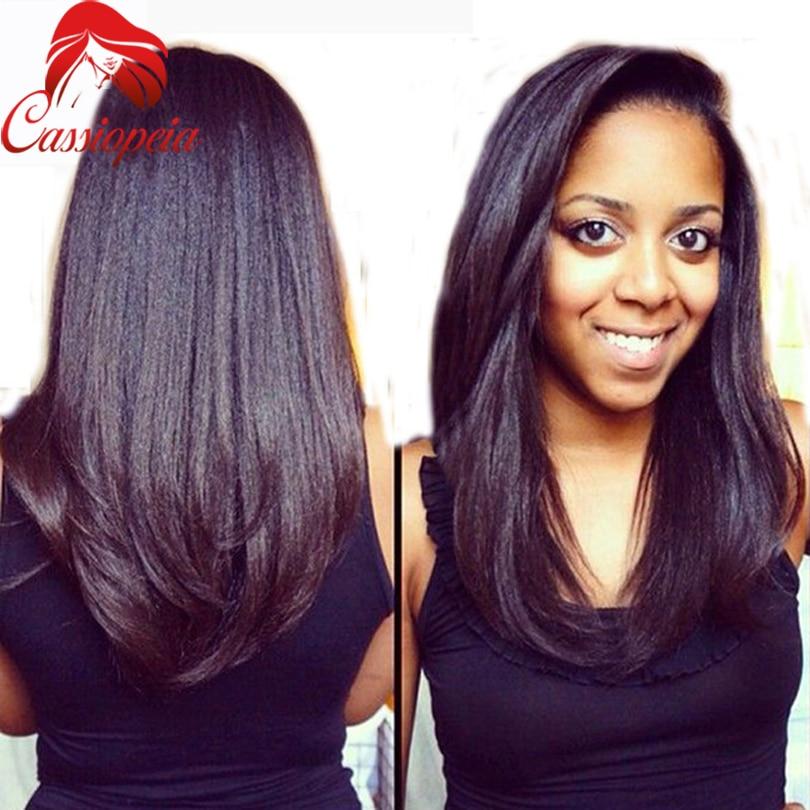 2016 Yaki Straight U Part Human Hair Wig Unprocessed