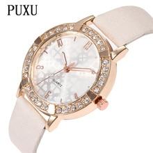 2018 New Top Brand PUXU Fashion Casual Watches Women Popular Quartz Leather Watch Female Ladies Diamond Dress Wristwatch Hot все цены