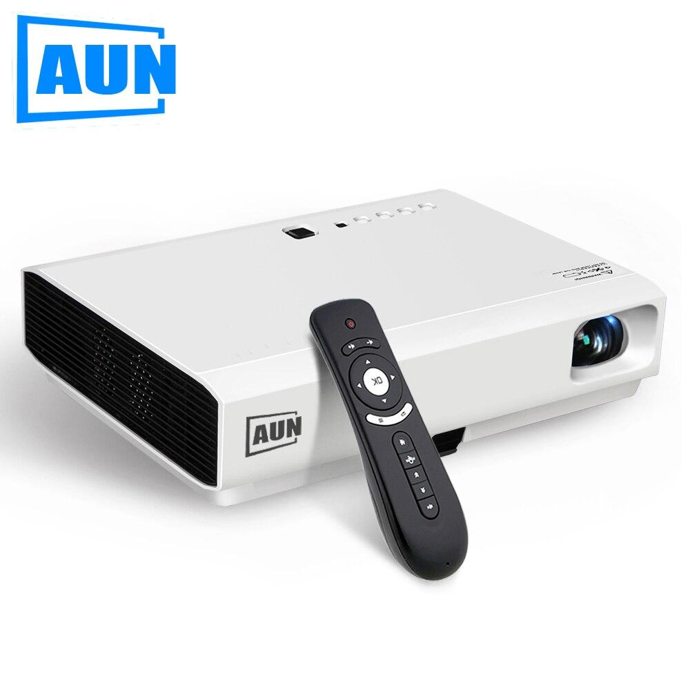 AUN 3LCD Proyector AKEY Y2, Proyector Android Bluetooth WIFI 2800 Lúmenes 1280*8