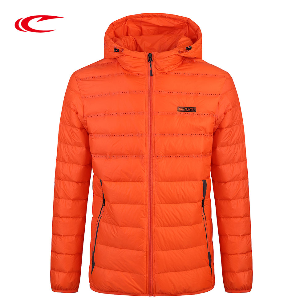 SAIQI Sport Brand Men White Duck Down Jacket Thin Light Sport Down Jacket Keep Warm Autumn Spring Coat 257551 saiqi 2017 new winter warm light down women ultra light 80% white duck down jacket short hiking outer coat female jacket 1016