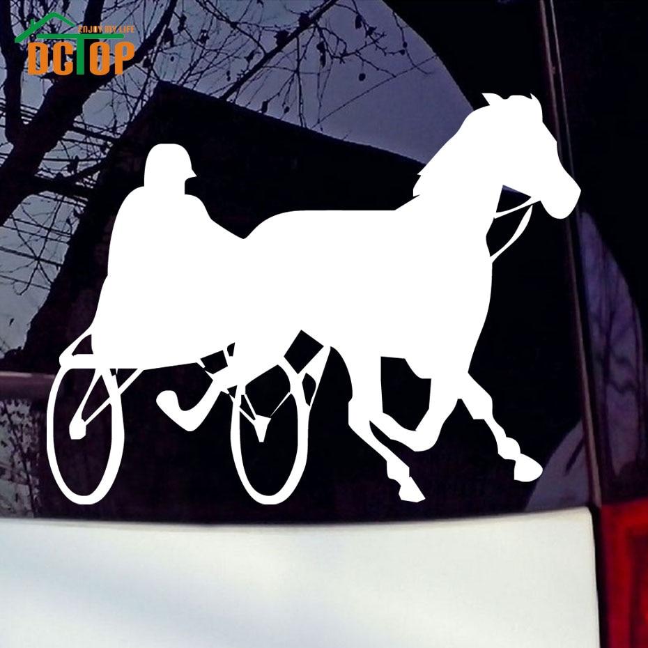 New car sticker design - Man Take Horse Styling Vinyl Decals Car Sticker Animal Decal New Design Auto Window Decorative Car