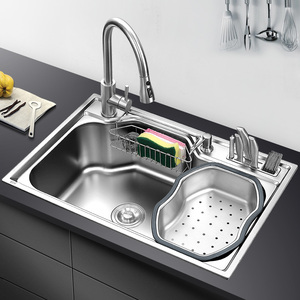 Image 5 - kitchen sink above counter or udermount sinks vegetable washing basin stainless steel single bowl 1.2mm thickness sinks kitchen