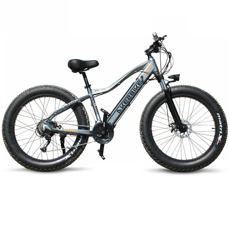 Nouveau vélo électrique ebike 27 vitesses 10AH 48 V 500 W E vélo 26*4.0 vélos de montagne gros vélo de route vélo électrique en alliage d'aluminium