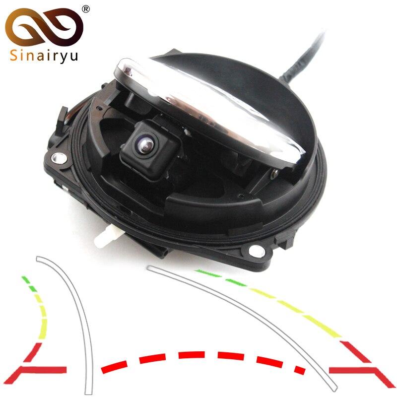 цена Dynamic Trajectory Tracks Parking Line Smart Flip Trunk Handle Rear View Vehicle Camera For VW CC Golf 6 Passat B7 Magotan