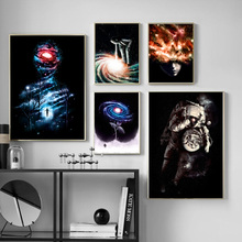 Mystic Universe Galaxy Astronaut Wall Art Canvas Painting Nordic Posters And Prints Decoration Pictures For Living Room