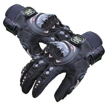 Motocykl węglowy rękawice ochronne z włókna węglowego pełne palce oddychające poręczne letnie rękawice motocyklowe luvas moto MTB ATV tanie i dobre opinie Pro-biker Poliestru i nylonu Mężczyźni Z pełnym palcem