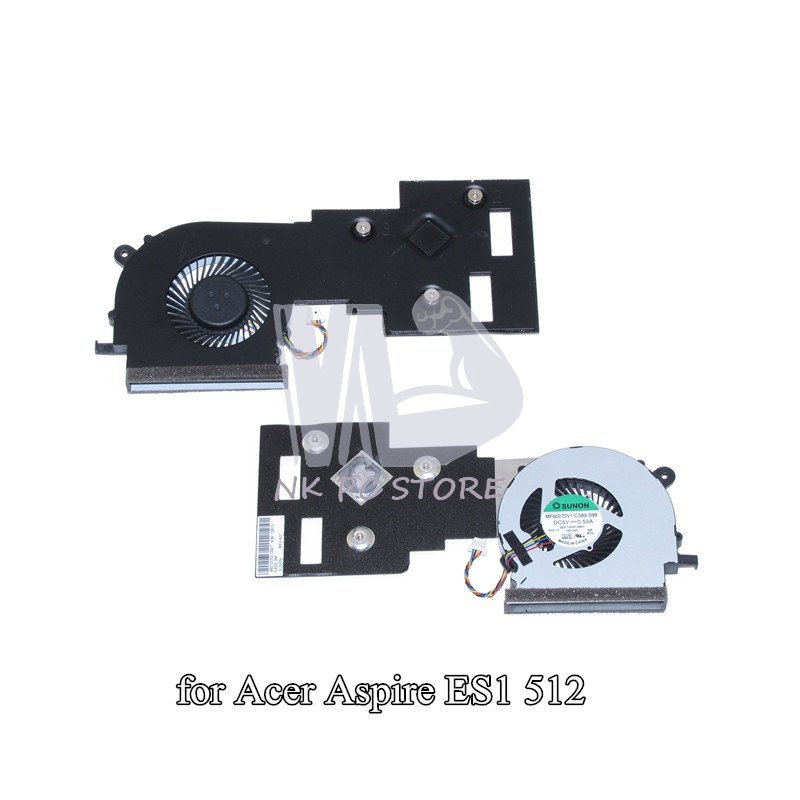 MF60070V1-C380-S99 laptop Heatsink with fan For Acer aspire ES1 512 Notebook PC Cooling System 100%test acer es1 531 c7tf notebook