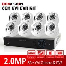 8 Channel HD Surveillance CCTV Full 1080P HD CVI/CVR Camera System DVR Kit 8Ch 8*1080P IR 20M Indoor HDCVI Dome Camera System
