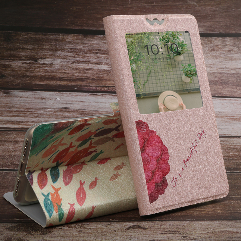 Case For Nokia 1 2 2 1 3 3 1 Plus 5 5 1 6 6 1 7 Plus 7 1 8 9 X6 X7 View Window Protective Bag capa Printed Case Cover Stand in Flip Cases from Cellphones Telecommunications