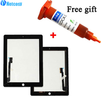 High Quality Black White Touch Screen Glass Digitizer Replacement For Apple IPad 3 4 5mL UV